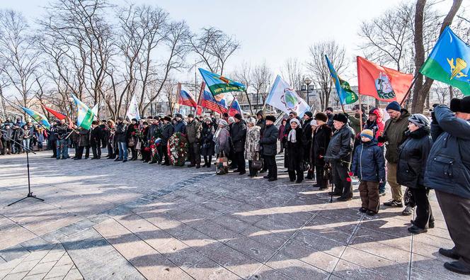 Торжественный митинг во Владивостоке