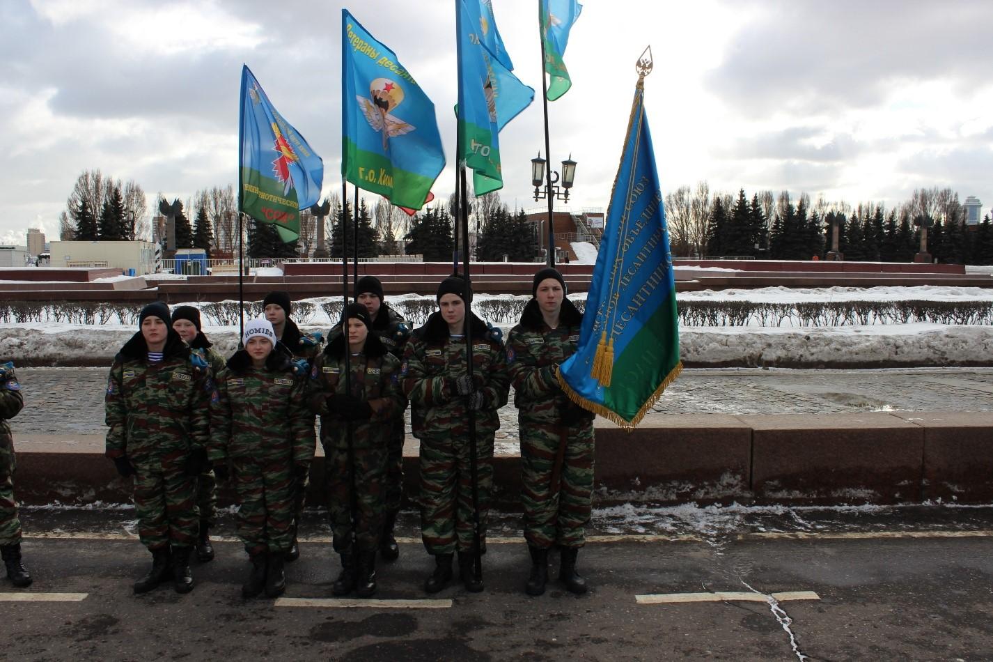 «Юнармейцы» ВПО «Сова» на Поклонной горе на «Бессмертном батальоне»