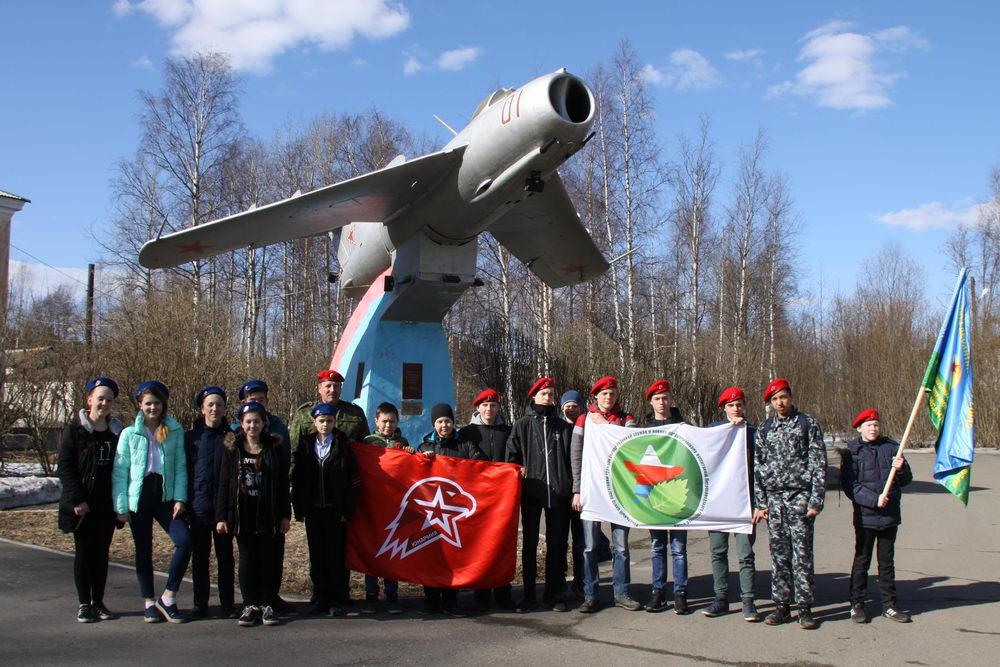 Посещение лётчиков 159-го гвардейского истребительного полка