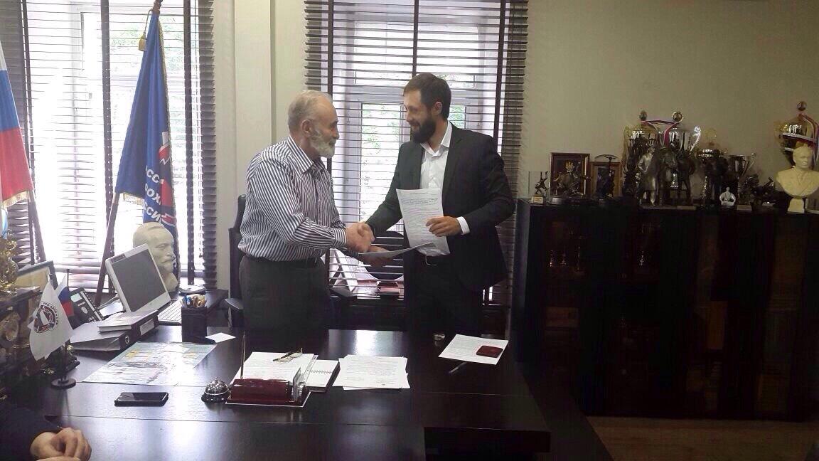 Торжественное подписание Соглашения о сотрудничестве между БФ «Я РАСТУ СО СПОРТОМ» и «АРПОиС»