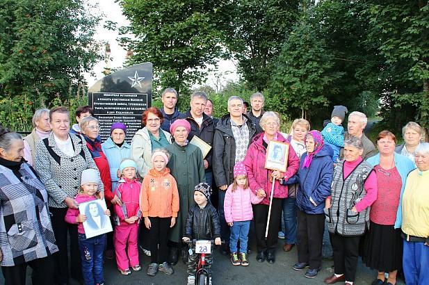 Карельские юнармейцы приняли участие в открытии мемориала в селе Педасельга