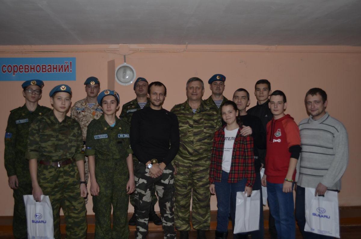 Соревнования курсантов военно-патриотического клуба «Голубые молнии», посвящённые 30 летию создания клуба