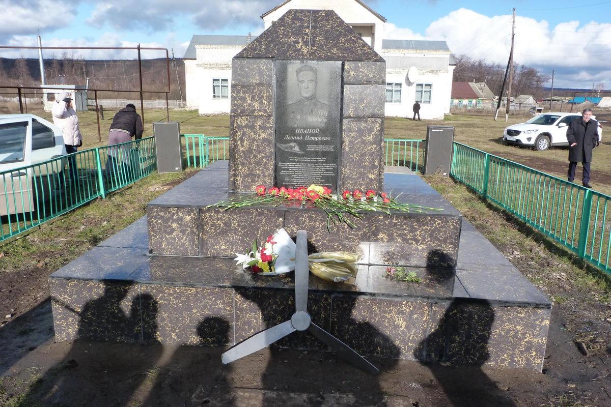 Открытие мемориальной доски Герою Советского Союза Иванову Леониду Петровичу