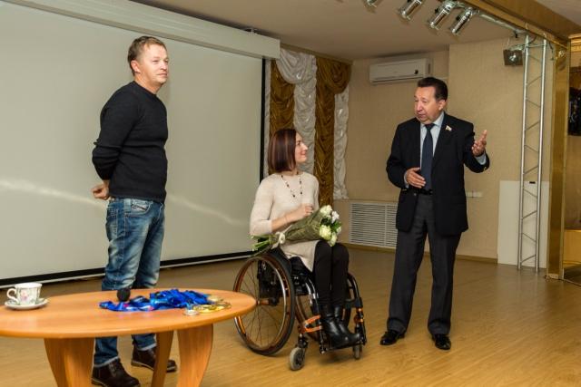 Встреча с Людмилой Васильевой, участницей параолимпиад в Пекине и Лондоне