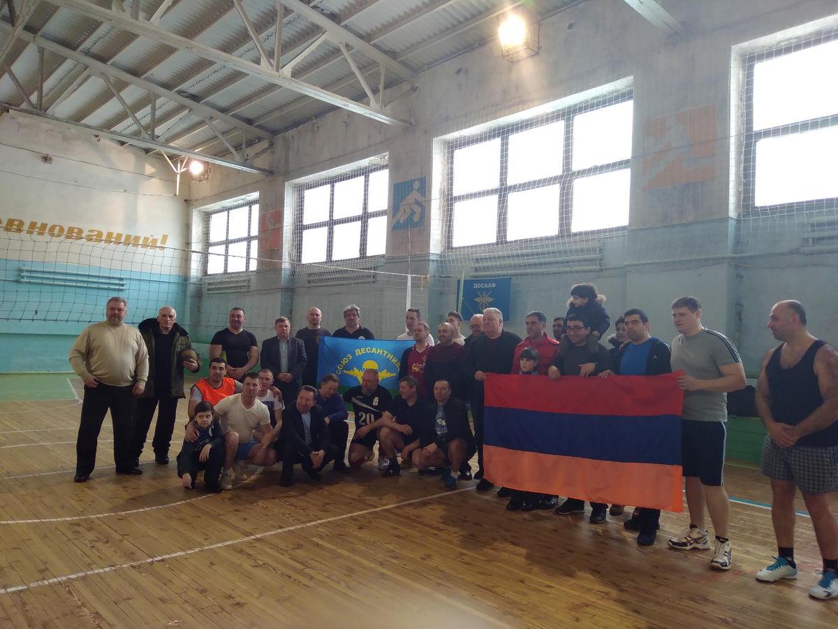 Матч по волейболу, посвященный памяти 6 роты