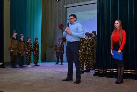 Принятие присяги у воспитанников ВПК в селе Урик