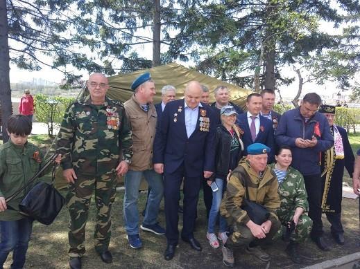 Празднование 9 мая 2018 года в городе Иркутске