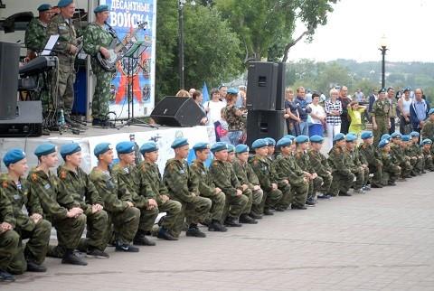 Празднование 88-ой годовщины образования ВДВ в городе Иркутске