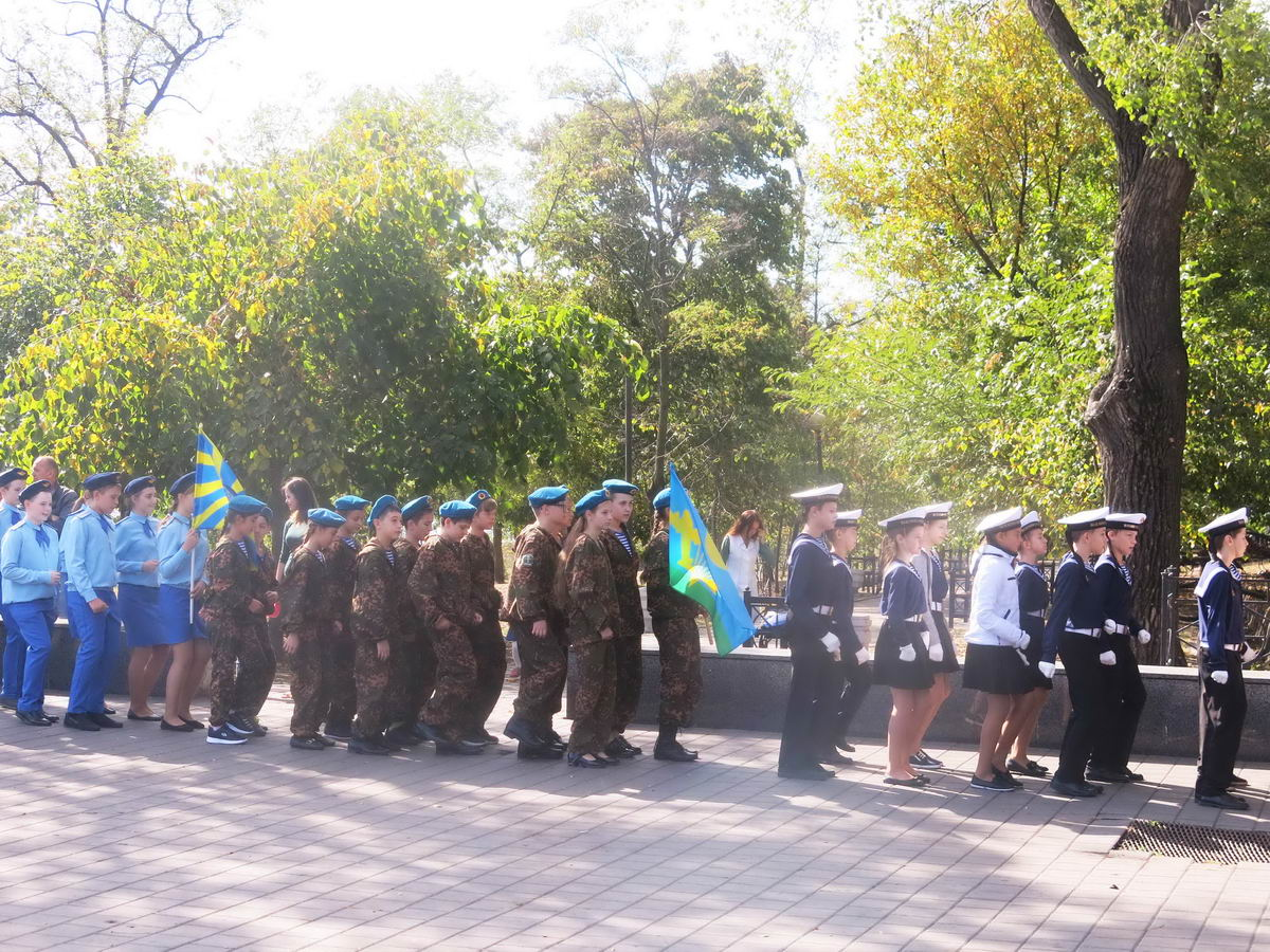 «У юнармейцев городского Военно-патриотического клуба «ПАТРИОТ» в Таганроге начался новый учебный год»