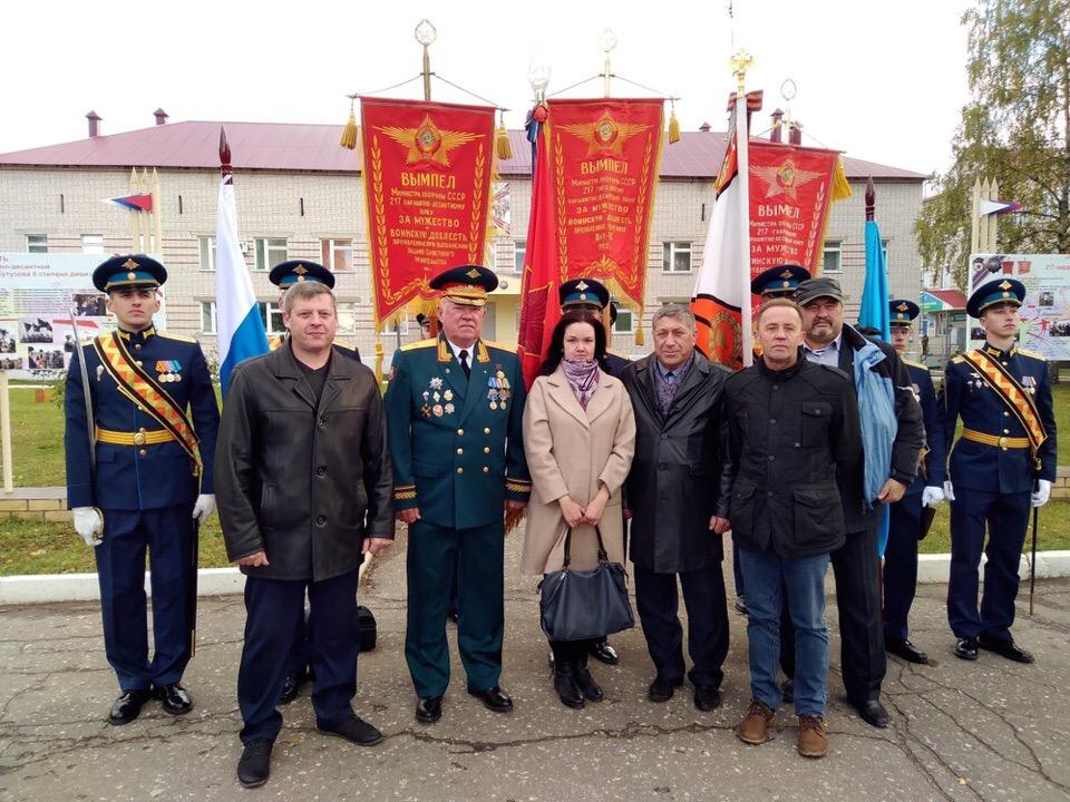 Встреча ветеранов со своим командиром