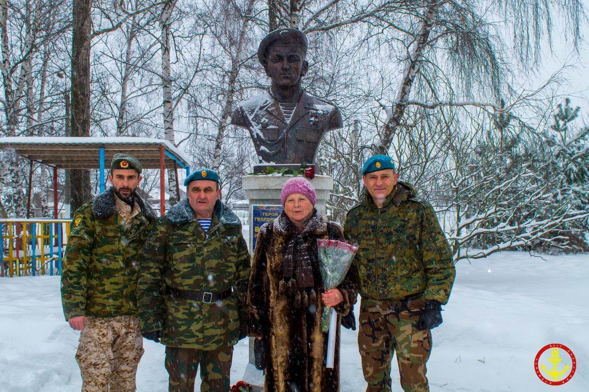 Бюст герою России в Белгородской области