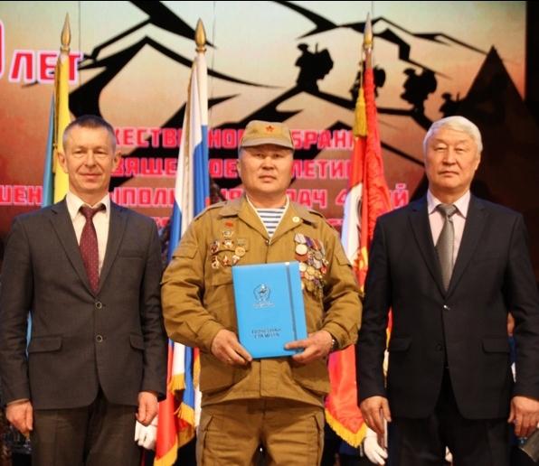 Десантник Х.В. Кызыл-оол награжден Почетной грамотой Главы Республики Тыва