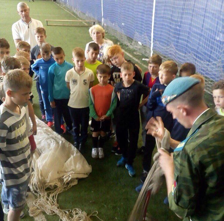 В школе футбола города Ижевска был проведён урок мужества