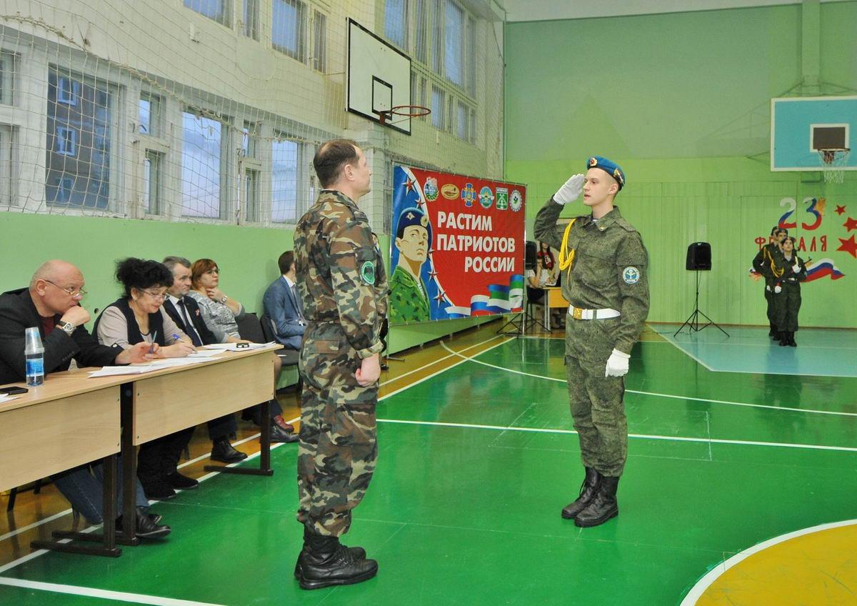 К Дню защитника Отечества в Усинске провели конкурс «Смотр строя и песни»