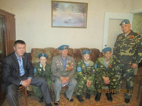 Посещение ветерана Великой отечественной войны в канун праздника