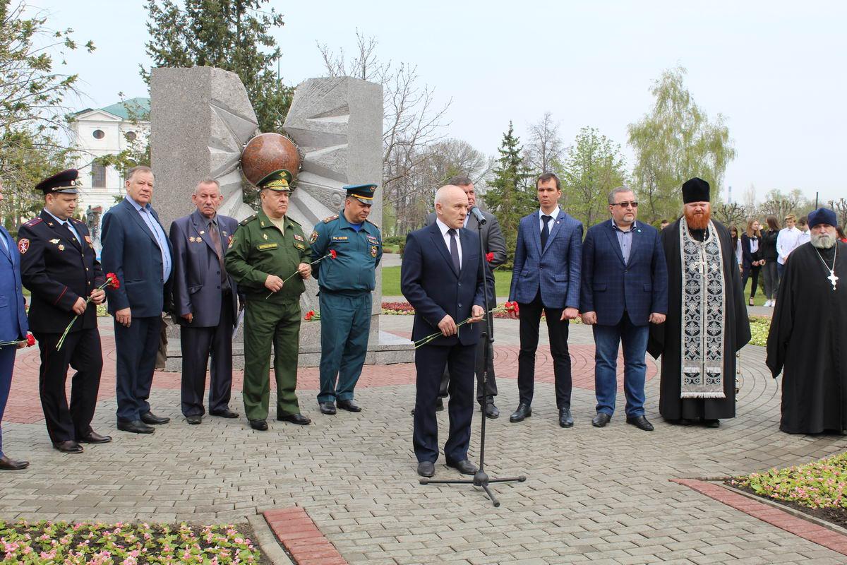 Митинг, посвященный памяти 33-й годовщины Чернобыльской трагедии в городе Тамбове