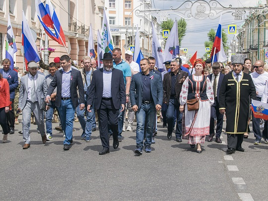 12 июня 2019 года в Иркутске прошли празднования посвященные Дню России