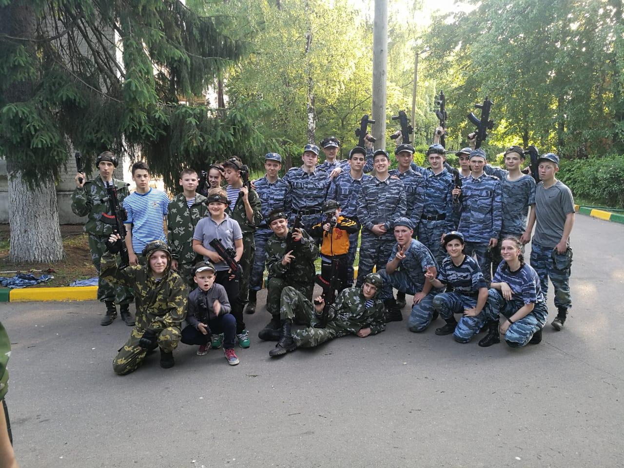 29 мая проведена игра по «Лазертагу» Посвященная «День пограничника».