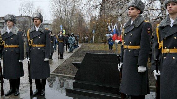 Аллея Героев с именами погибших десантников 6-й роты 104-го гвардейского парашютно-десантного