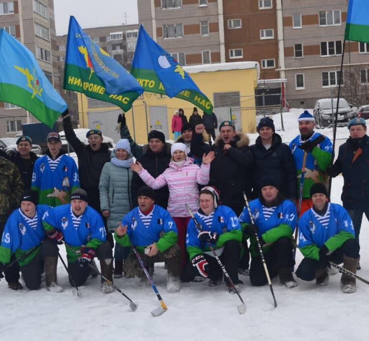 «Союз десантников Удмуртии» принял участие в игре в хоккей «На валенках»