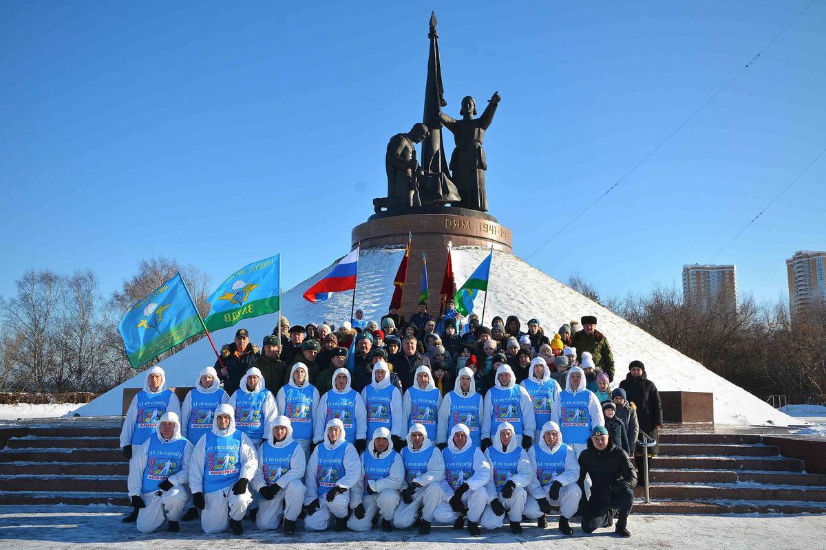 Столица Чувашии встретила десантников 31-й ОГДШБр