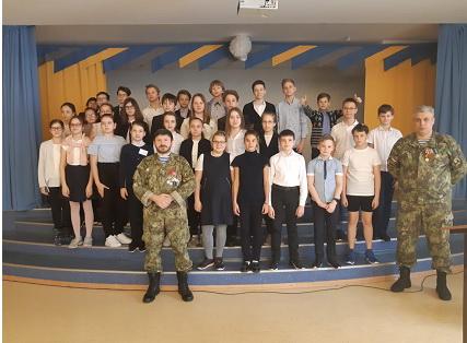 Мероприятие по военно-патриотическому воспитанию подрастающего поколения в гимназии №3 г.о. Самара