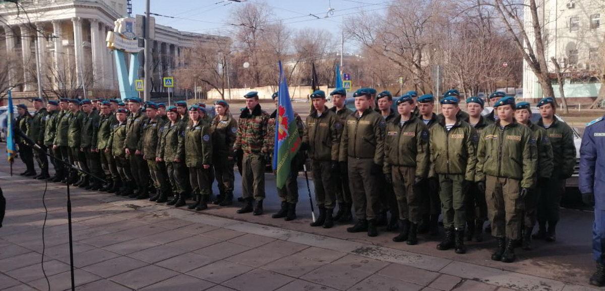 Воспитанники ВПО «СОВА» приняли участие в торжественном митинге, посвящённому памяти Героической, Псковской роте. 1 марта 2020 года