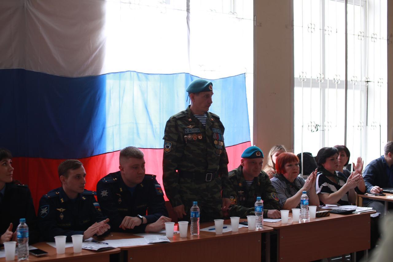 Городской конкурс строя и песни Военно-патриотического центра «ПАТРИОТ» в Таганроге