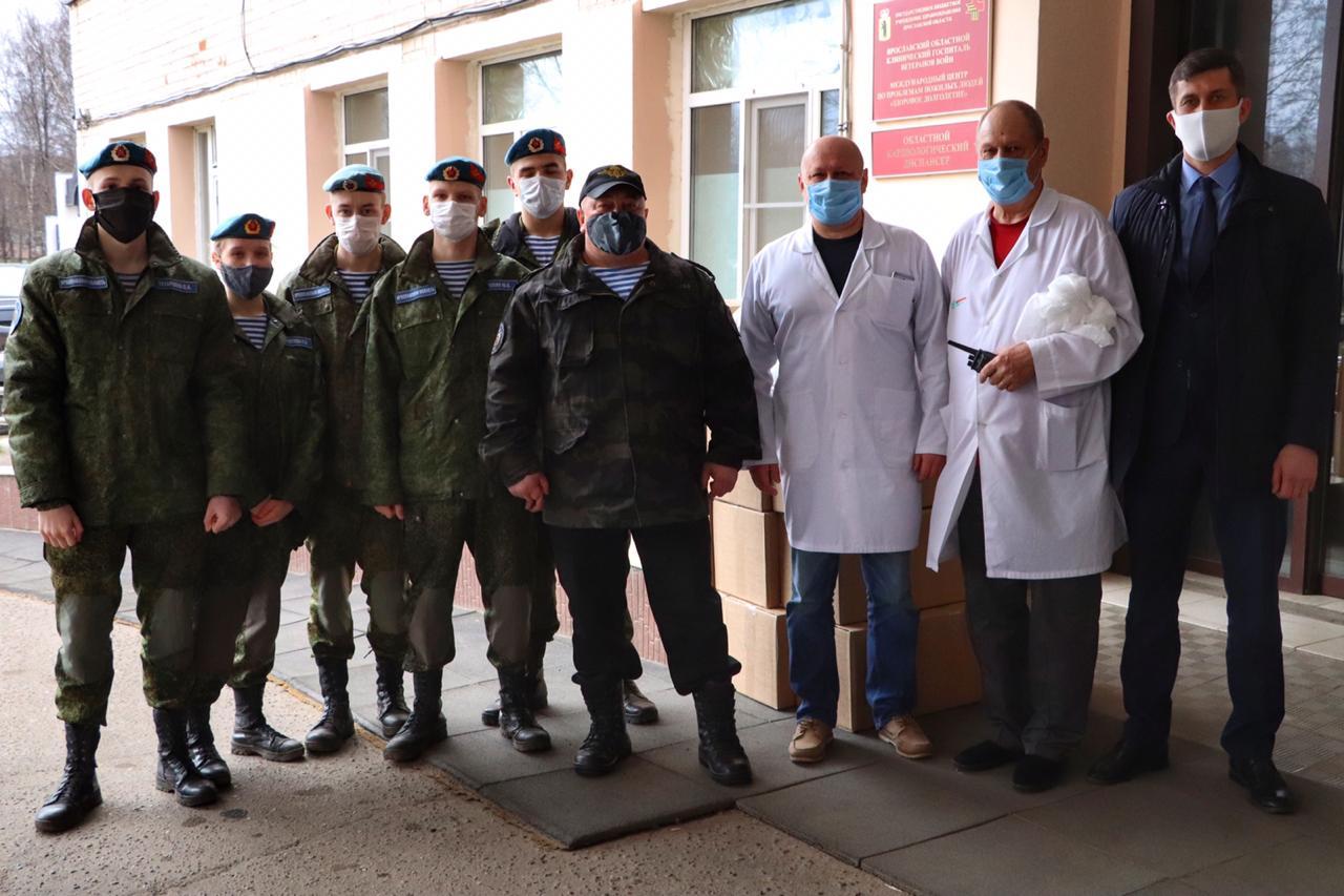 Ярославский ВПК «Десантник» передал госпиталю Ветеранов войн медицинские маски