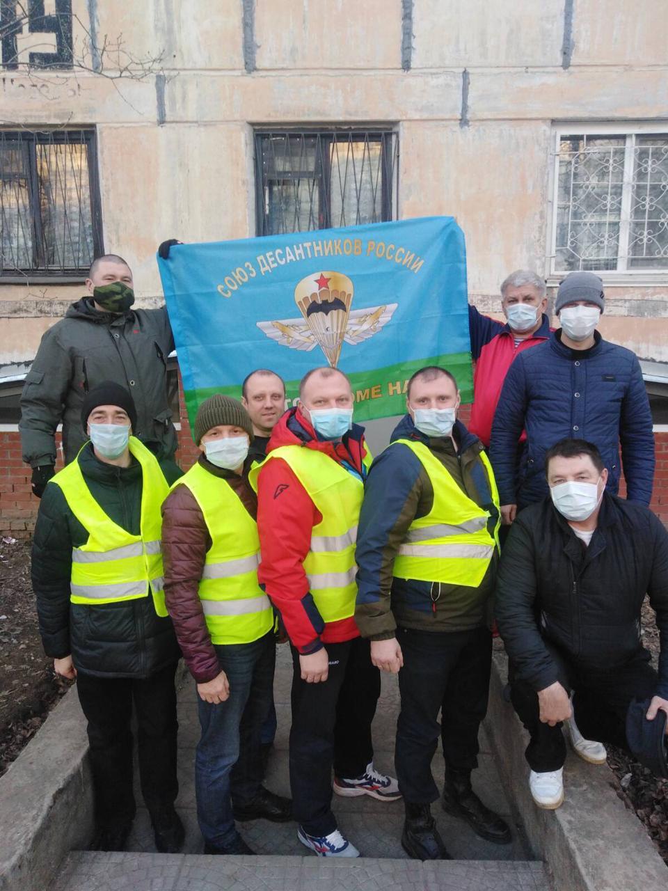 «Союз десантников Удмуртии» увеличивает количество своих волонтёров, участвующих в мероприятиях «… по противодействию распространения коронавирусной инфекции в Удмуртии…»