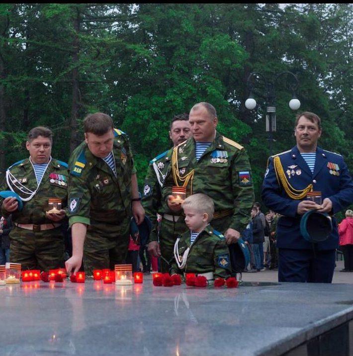 22 июня члены «Союза десантников Удмуртии» приняли участие во всероссийской акции «День памяти и скорби»
