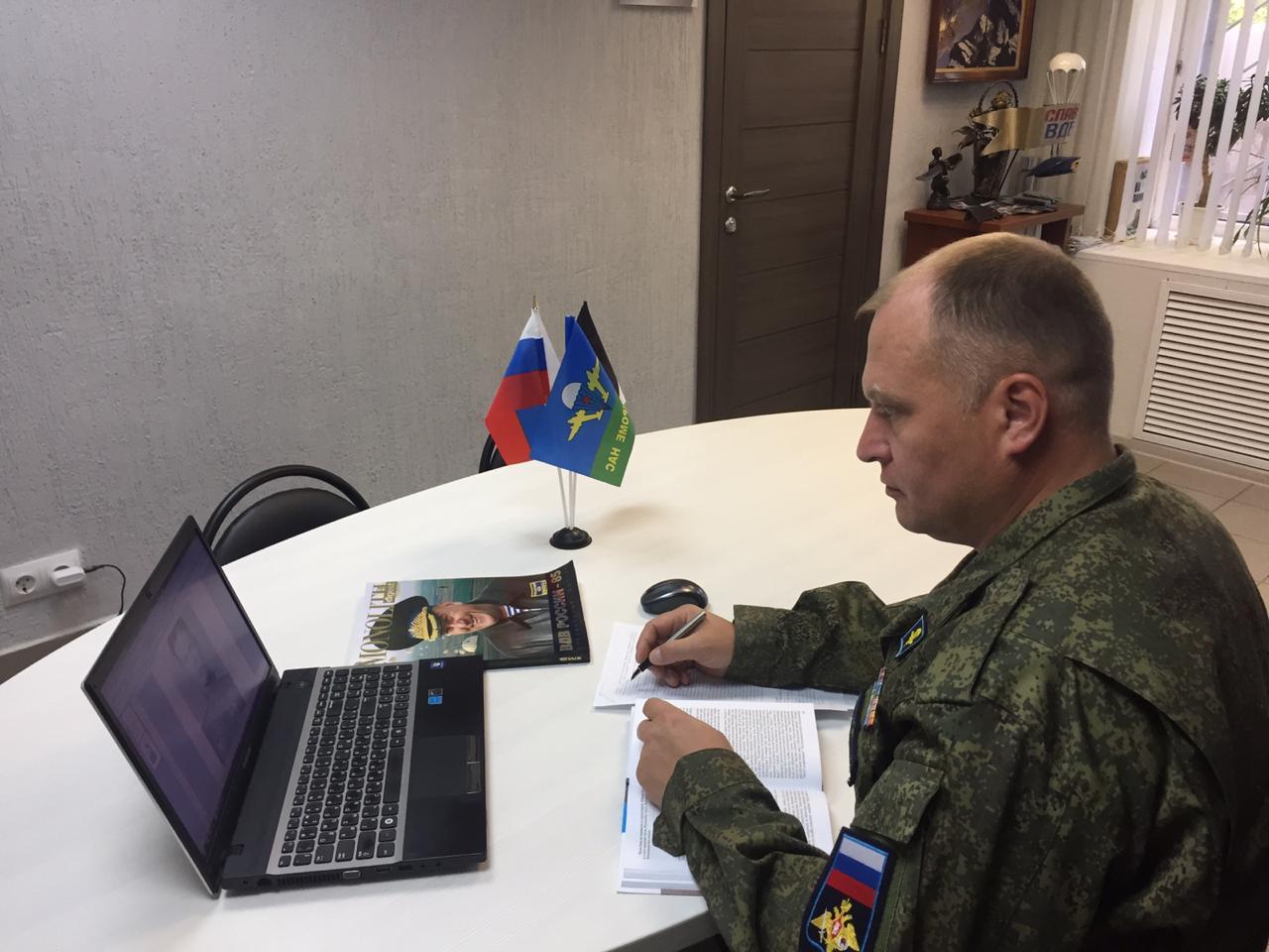 Председатель «Союза десантников Удмуртии» провёл удалённо Урок мужества с кадетами десантного направления