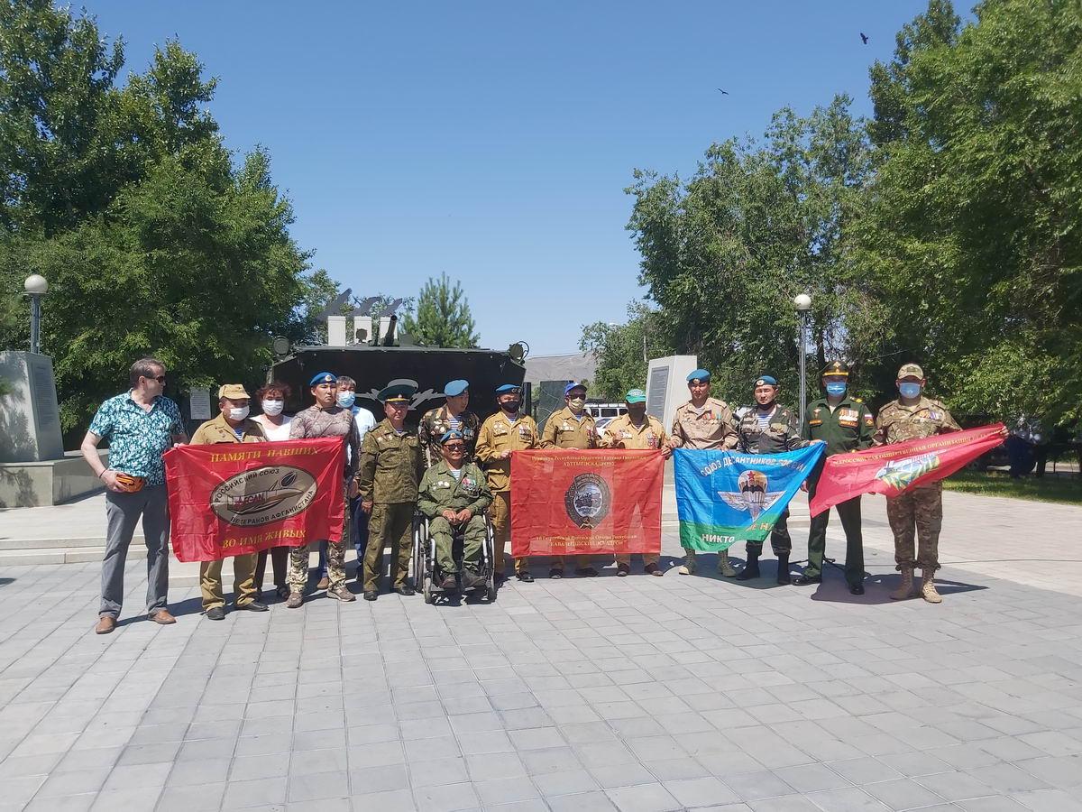В Туве почтили память ветеранов боевых действий