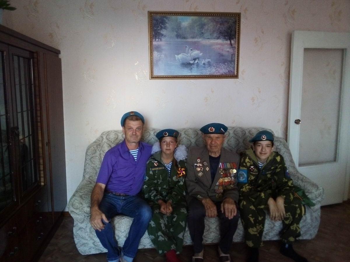 В канун празднования 90-летия ВДВ посетили ветерана Гаврилова Михаила Николаевича