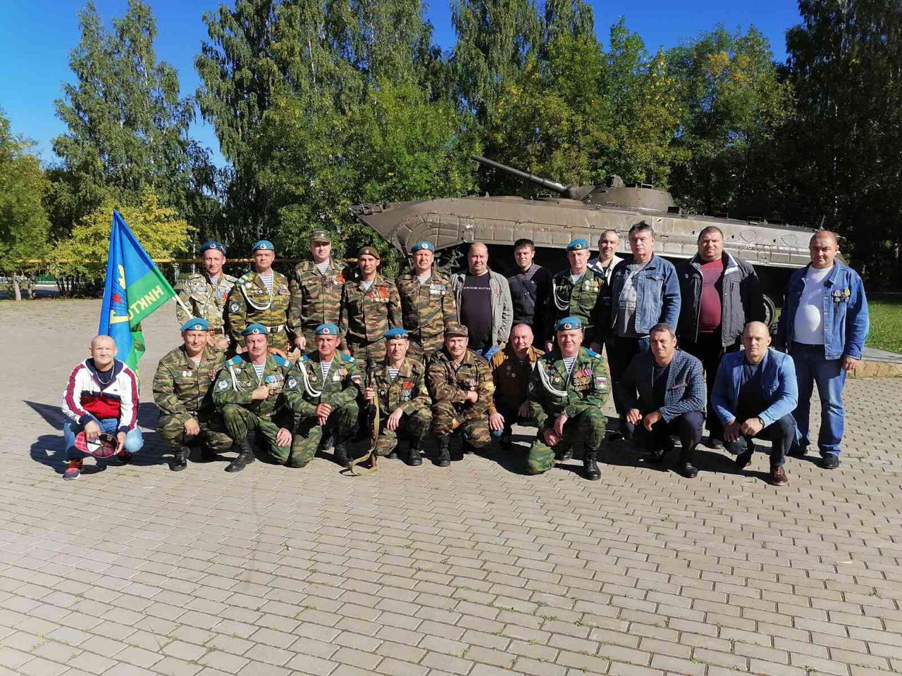 Большая группа гвардейцев «Союза десантников Удмуртии» присоединилась к празднованию «Дня ветеранов боевых действий»