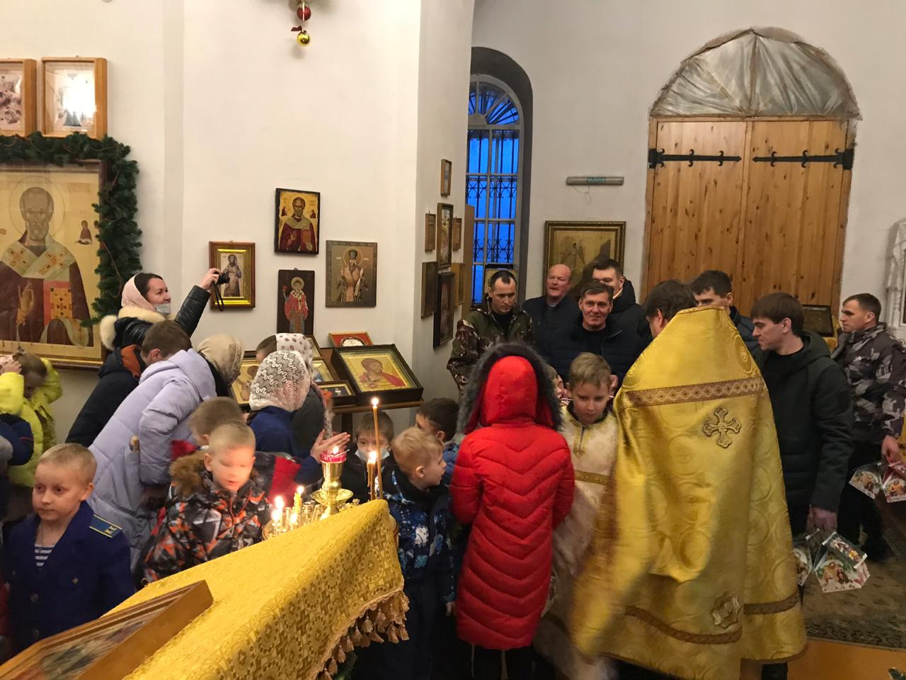 Православная ёлка, в селе Казачье Задонского района