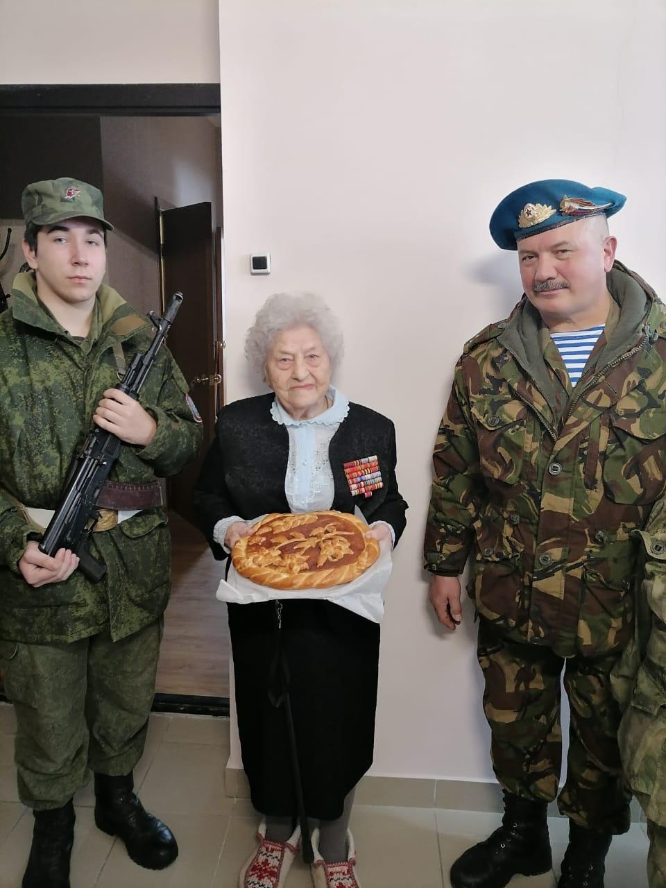 Белгородской «Железной бабушке» исполнилось 99лет. Поздравление БРОО «Союз десантников Белогорья».