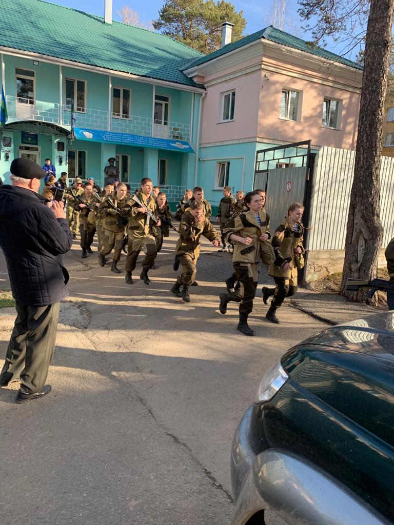 16 апреля 2021 года в военно-патриотической школе состоялось испытание на право ношение голубого берета