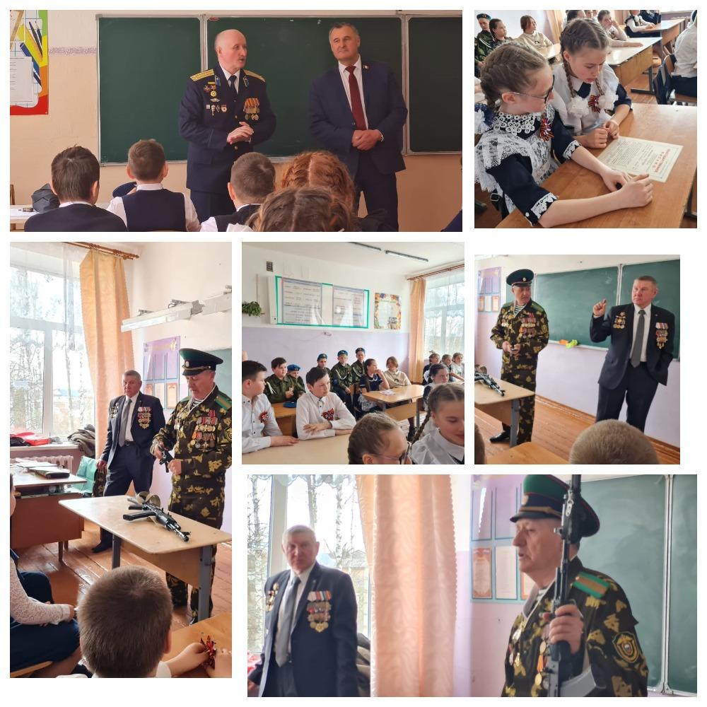 «Союз десантников Удмуртии» принял участие в «Уроке мужества» в сельской общеобразовательной школе