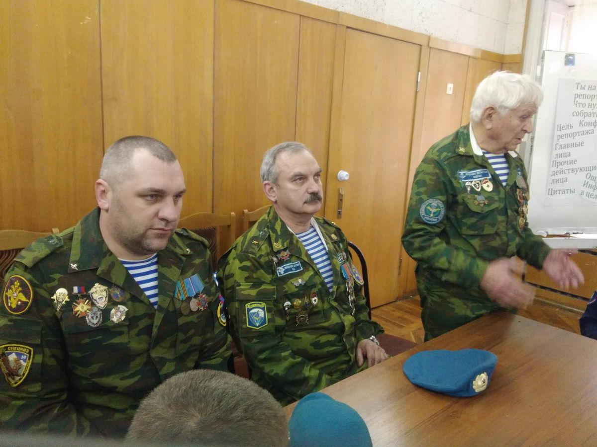 Встреча с юнармейцами Таганрогского городского Центра патриотического воспитания «ПАТРИОТ»