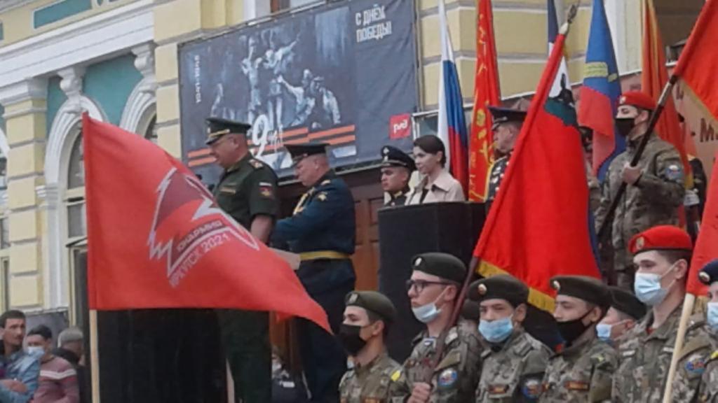 13 июня 2021 года в Иркутск прибыл агитационный поезд МЫ-Армия страны, Мы-Армия народа