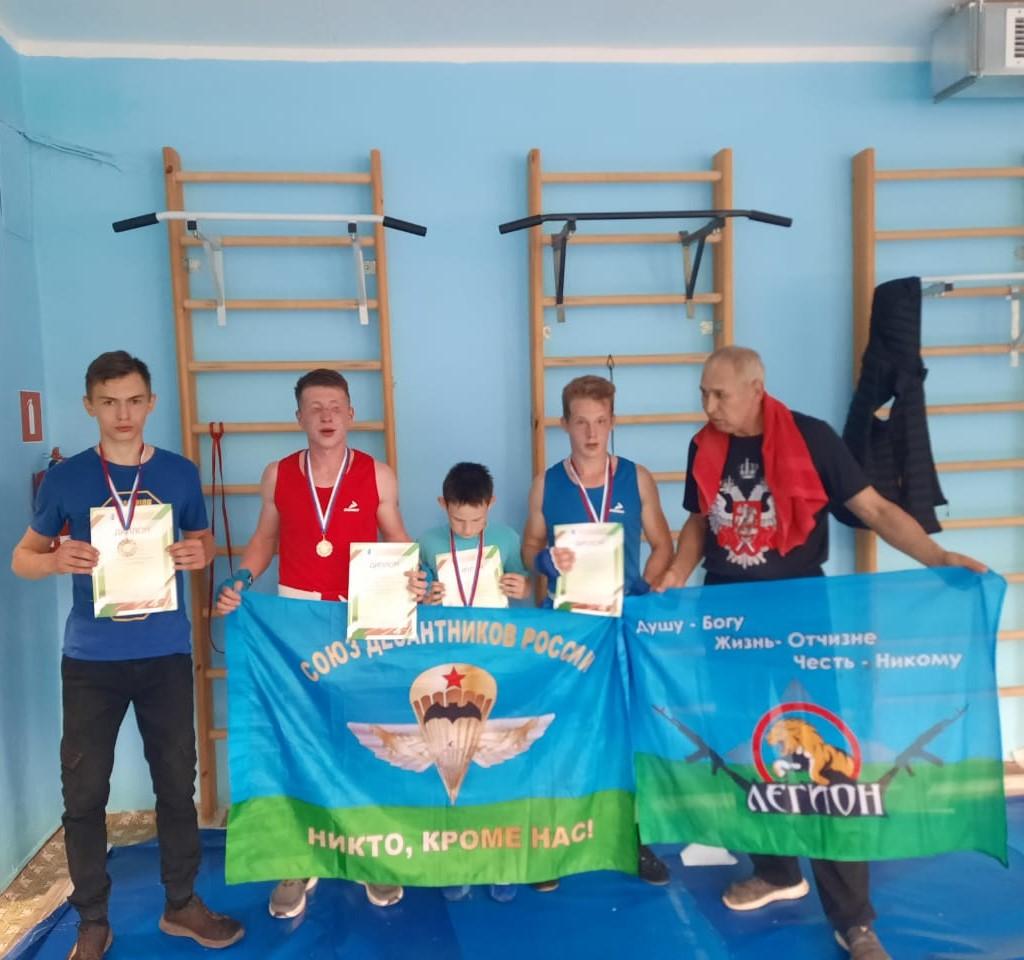 Юные гвардейцы «Союза десантников Удмуртии» выступили на соревновании по боксу в честь Дня России