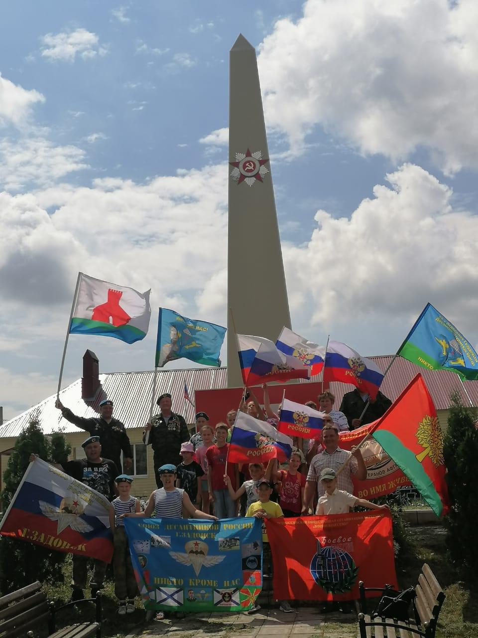 Автопробег, посвященный Дню независимости России по памятным местам Задонского района