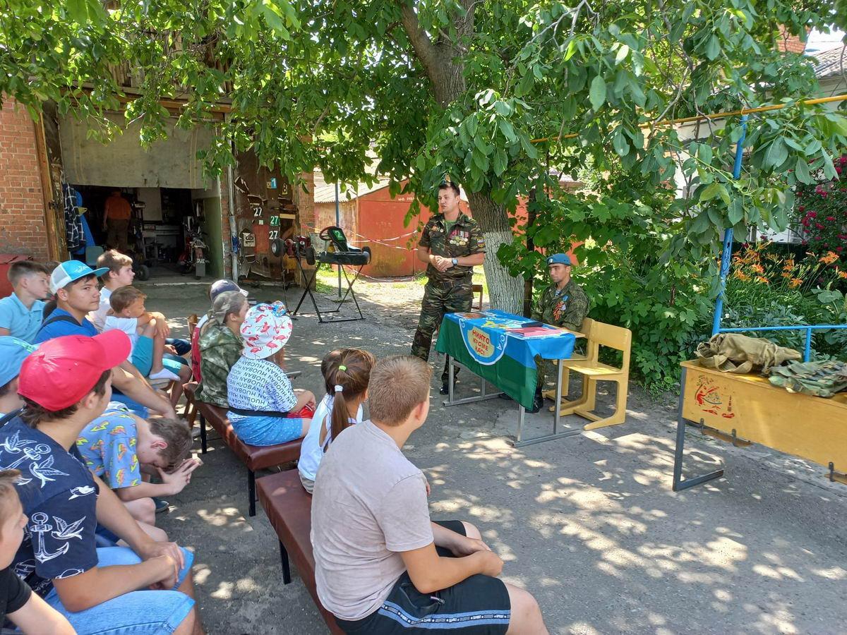 Ветераны «Союза десантников Таганрога» провели уроки мужества, посвященные 80-летию начала Великой Отечественной войны»